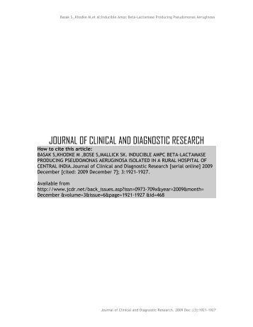 Pseudomonas Aeruginosa - JCDR