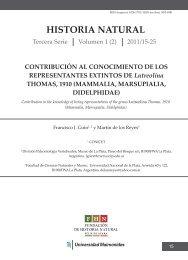 HISTORIA NATURAL CONTRIBUCIÓN AL CONOCIMIENTO DE ...