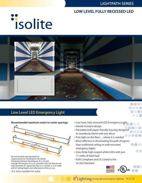 Low Level Led Emergency Light Lightpath