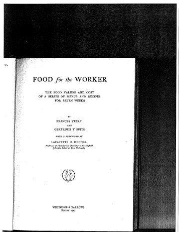 Food for the Worker - Food Timeline
