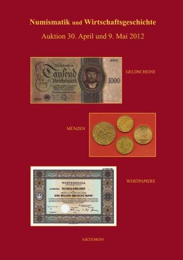 Numismatik und Wirtschaftsgeschichte - ARTEMON