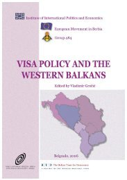 Visa policy and Western Balkans - Institute of International Politics ...