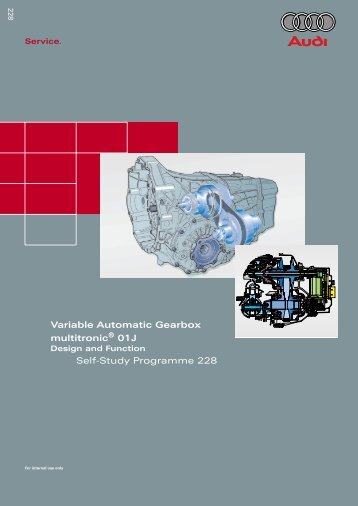 Variable Automatic Gearbox multitronic 01J Self-Study Programme ...