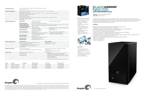 The BlackArmor® NAS 220 server is a small-business     - Seagate