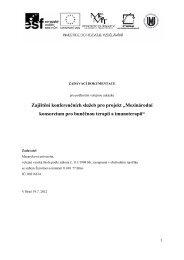 Mezinárodní konsorcium pro buněčnou terapii a ... - E-ZAK MUNI