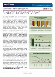 Gyvenamojo NT rinkos komentaras 2009 m. I ketv. - Ober-Haus