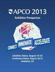 Exhibitor Prospectus - APCO 2013
