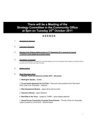 There will be a Meeting of the Strategy Committee in the Community ...