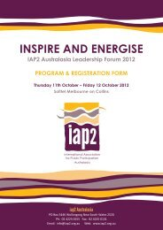 InspIre and energIse - International Association for Public ...