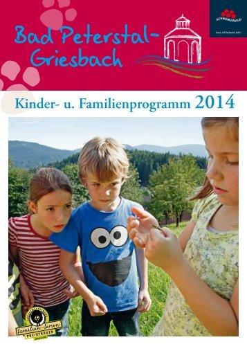 und Familienprogramm 2013 - Bad Peterstal-Griesbach