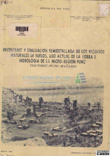 hidrología de la micro .region puno - Autoridad Nacional del Agua