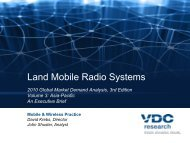 2010 Land Mobile Radio Global Market Demand ... - VDC Research