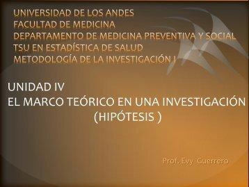 Hipótesis Alternativa - Medic.ula.ve - Universidad de Los Andes
