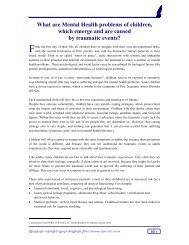 What are Mental Health problems of children, which emerge and are ...