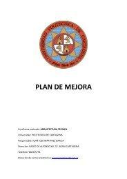 plan de mejora - Escuela de Arquitectura e Ingeniería de Edificación