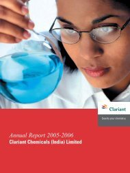 Annual Report 2005-2006 - Clariant