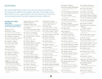 Download Donor List - Hospice of the Western Reserve
