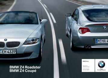 BMW Z4 Roadster BMW Z4 Coupé