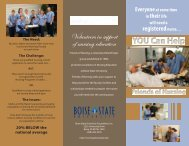 brochure - College of Health Sciences - Boise State University