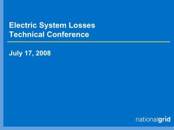 Electric System Losses Technical Conference - Public Service ...