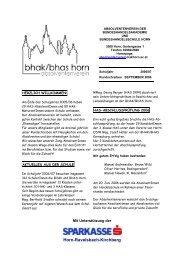 Rundschreiben September 2006 - BHAK/BHAS Horn