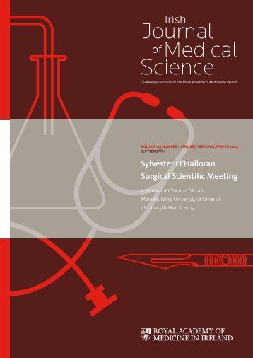 Sylvester O'Halloran Surgical Scientific Meeting - IJMS | Irish Journal ...
