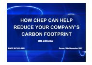 how chep can help reduce your company's carbon ... - SOS - Logistica