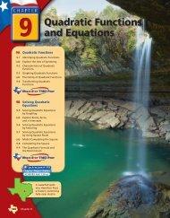 Chapter 9 Quadratic Functio