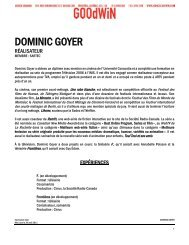 DOMINIC GOYER - Agence Goodwin