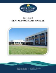 Dental Programs Manual - Gulf Coast Community College