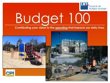City Budget - League of Women Voters of San Diego