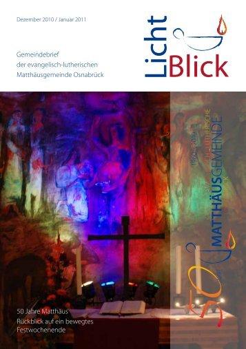 Angedacht von Vikarin Julie Danckwerts - Jahreslosung 2012