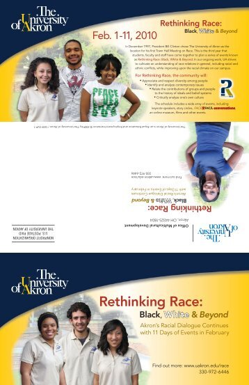 Rethinking Race: - The University of Akron