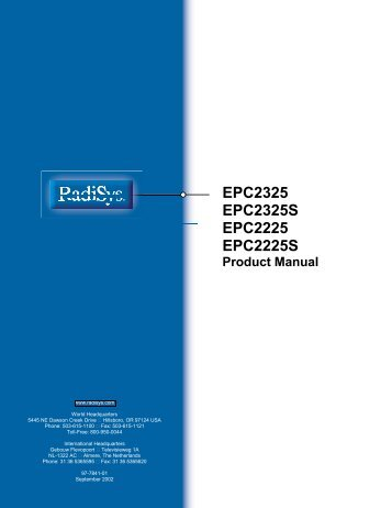 SF810 Product Requirements Document - Radisys