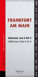 Frankfurt am Main - Adressen von A-Z 2011 (PDF - traffiQ