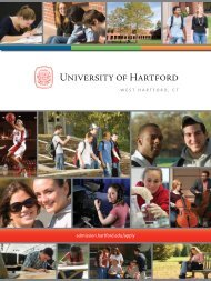 800.947.4303 - University of Hartford