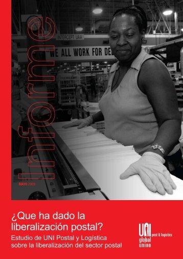Estudio de UNI Postal y Logística sobre la liberalización del sector ...