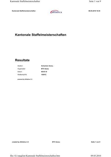 Resultate - ALV