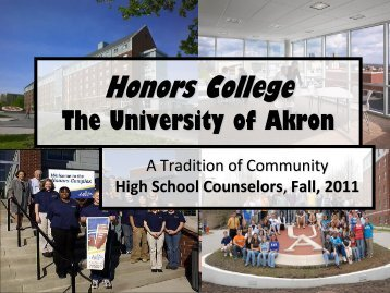 Honors College Deans - The University of Akron