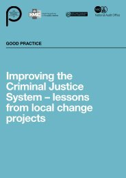 Improving the Criminal Justice System – lessons from ... - HMCPSI