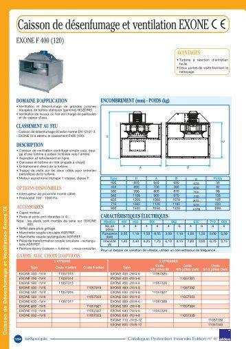 Caisson de désenfumage et ventilation EXONE - Aldes