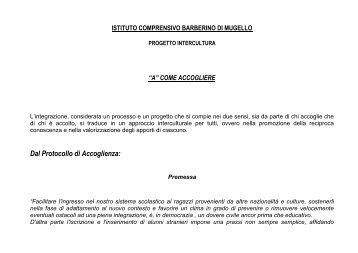 Dal Protocollo di Accoglienza: - barbescuola