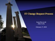 IT Change Request Process - University of Akron
