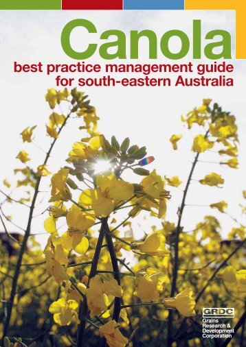 best practice management guide for south-eastern Australia - Grains ...