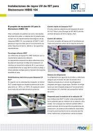 Instalaciones de rayos UV de IST para Steinemann ... - IST METZ