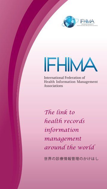 The link to health records information management around ... - ifhima