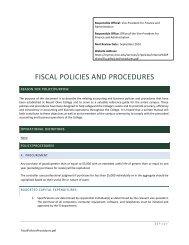 FiscalPoliciesProcedures - MyMOC - Mount Olive College