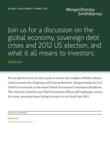 Join us for a discussion on the global economy, sovereign debt ...
