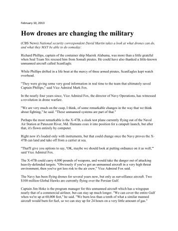 How Drones are Changing the Military 1/13 - NAVAIR