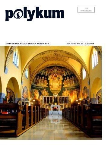 Zeitung der Studierenden an der etH nr. 8/07–08, 23. mai 2008